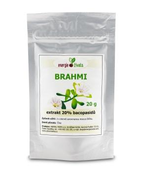 BRAHMI - extrakt 20% bacopasidů 20g paměť,mozek,koncentrace,inteligence,iq,duchovní růst,myšlení,extrakt,antioxidant