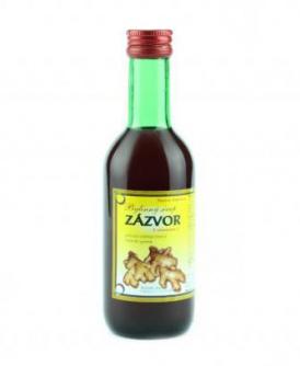 ZÁZVOR - bylinný sirup 250 ml bylinný sirup bez cukru, bylinný sirup s fruktózou, zázvor, nevolnost, kašel, nachlazení, afrodisiakum