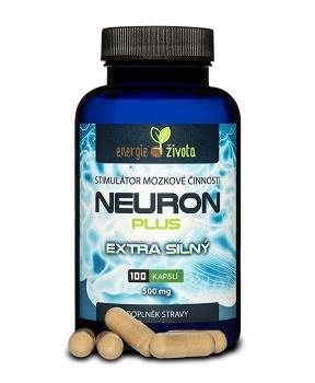 NEURON plus mozkový stimulátor 100 kapslí paměť,mozek,koncentrace,inteligence,iq,duchovní růst,myšlení,antioxidant,demence,alzheimer