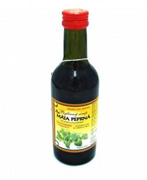 MEDUŇKA 250 ml mátový sirup, bylinný sirup s fruktózou