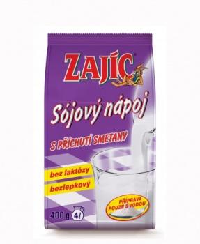 ZAJÍC sójový SMETANA 400 g sójový nápoj,sója,alternativa mléka,bez laktózy,bez lepku,bez gmo,smetana