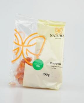 PAPAYA nesířená 100 g papaya, sušené ovoce nesířené