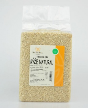 RÝŽE NATURAL neloupaná 1 kg rýže, natural